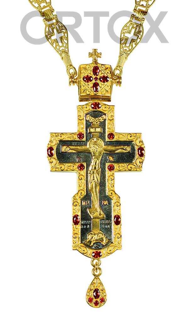 Крест наперсный с украшениями