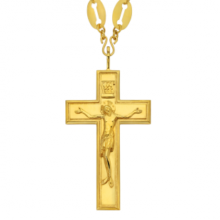 Наперсный крест из золотого металла